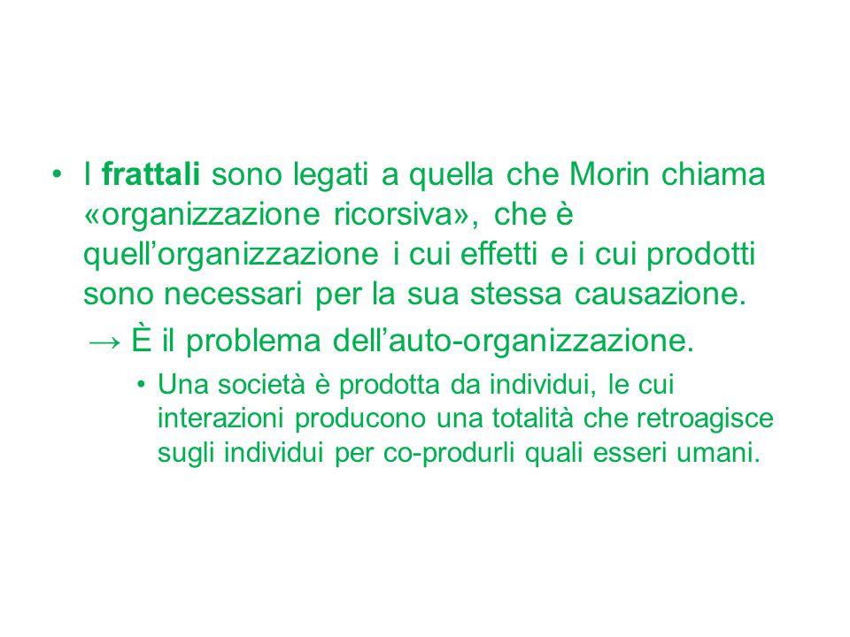 → È il problema dell'auto-organizzazione.