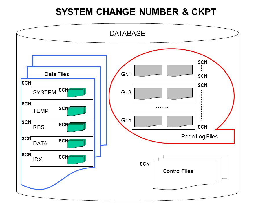 SYSTEM CHANGE NUMBER & CKPT