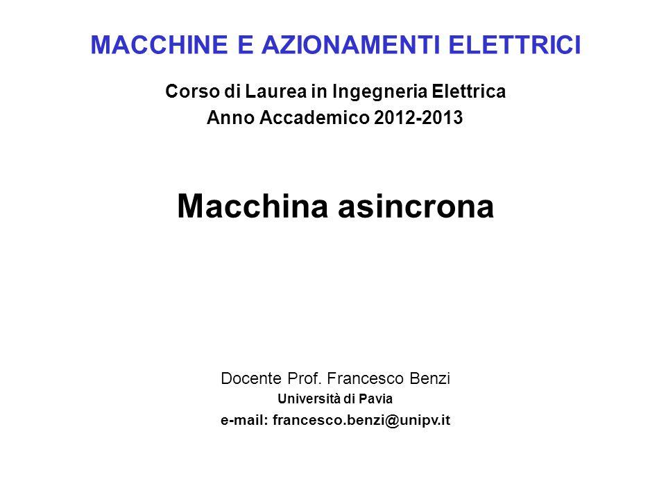 MACCHINE E AZIONAMENTI ELETTRICI