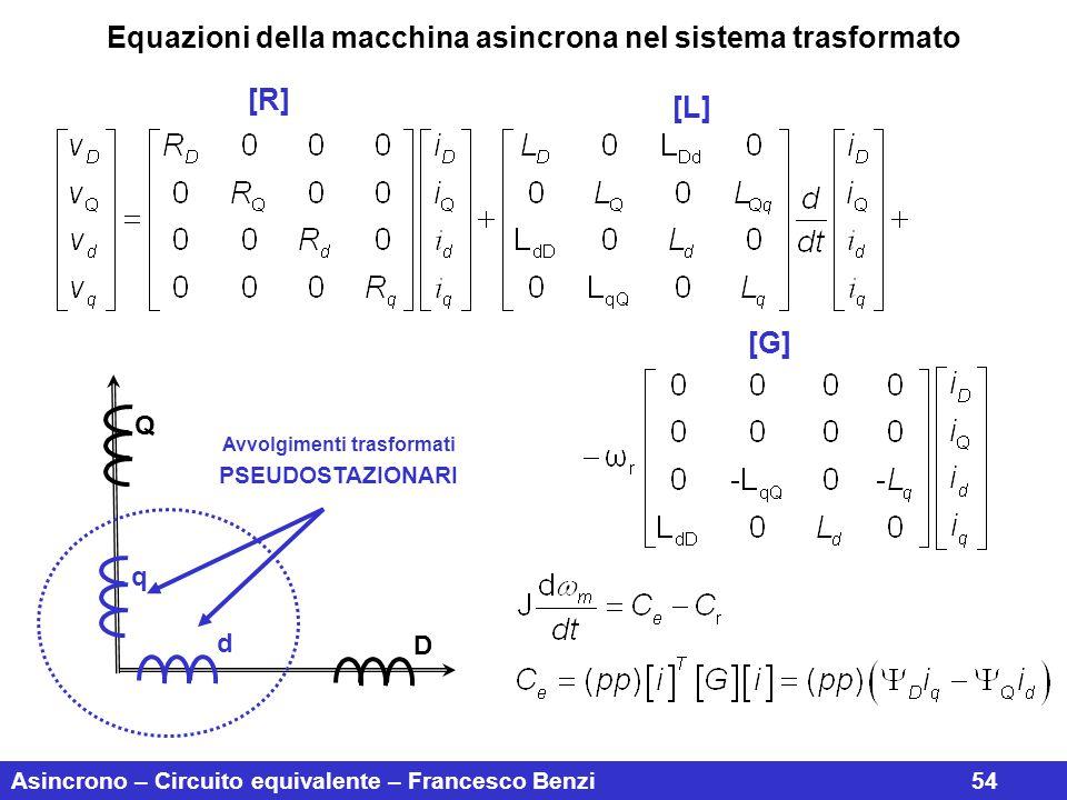 Equazioni della macchina asincrona nel sistema trasformato