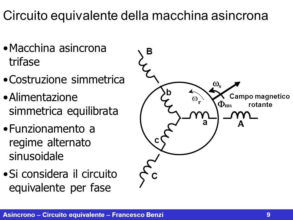 Circuito equivalente della macchina asincrona