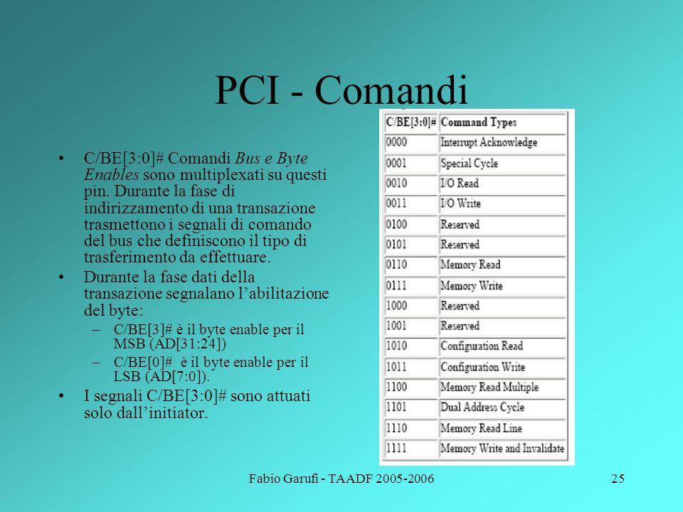 PCI - Comandi