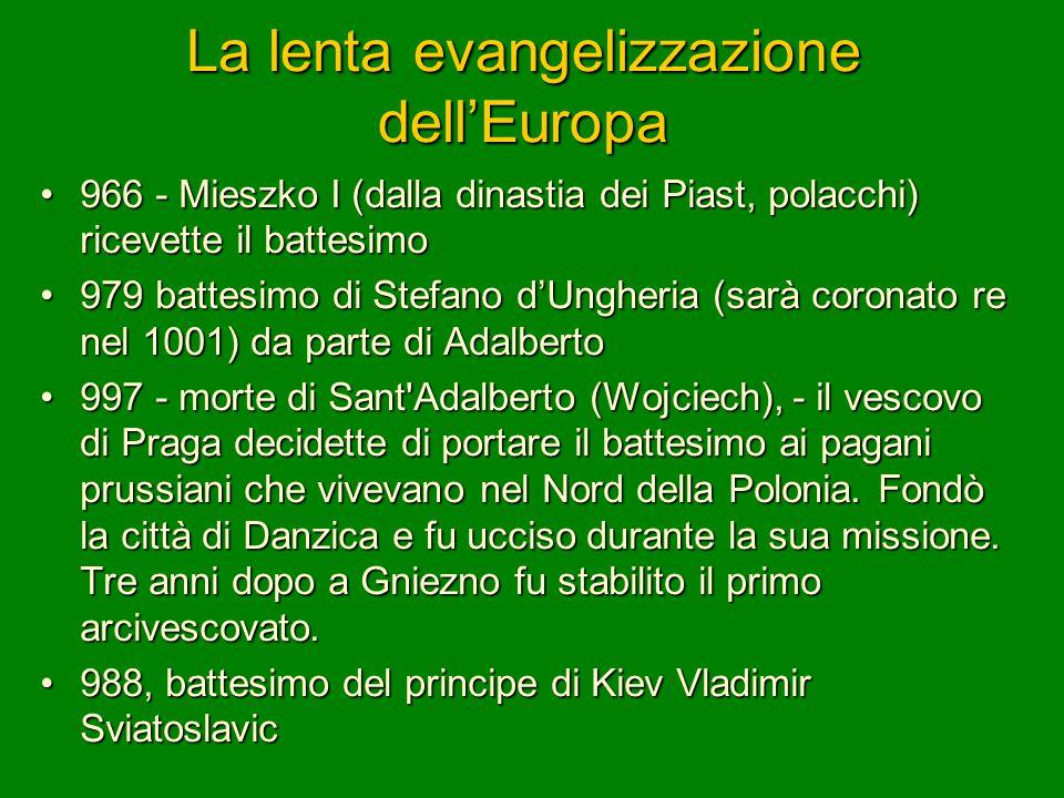 La lenta evangelizzazione dell'Europa
