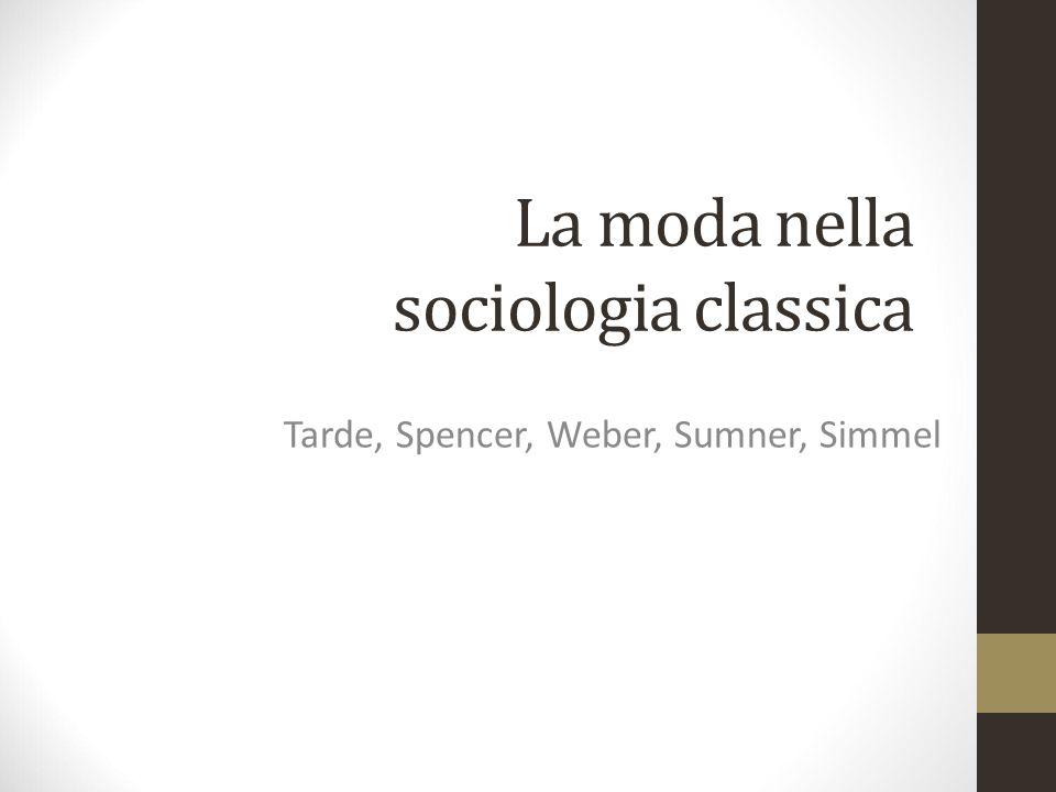 La moda nella sociologia classica