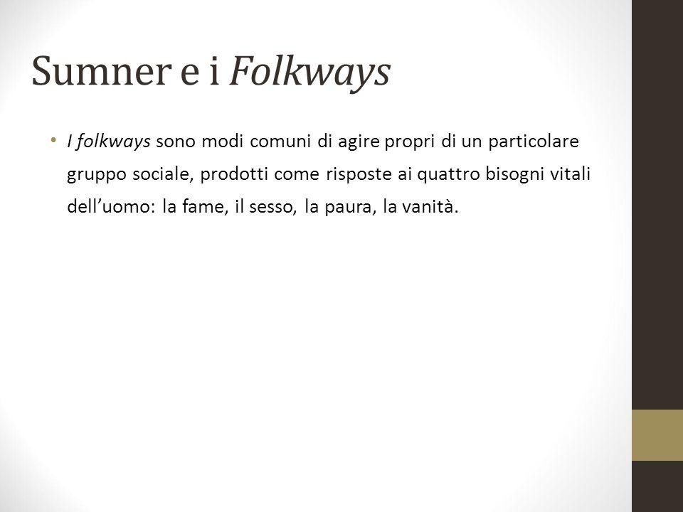 Sumner e i Folkways