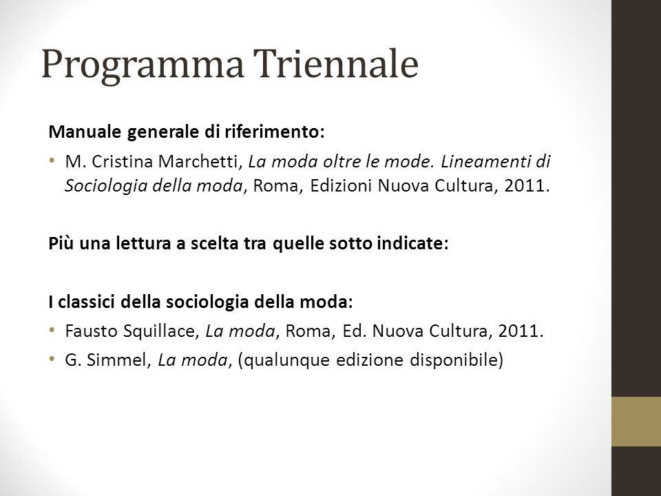 Programma Triennale Manuale generale di riferimento: