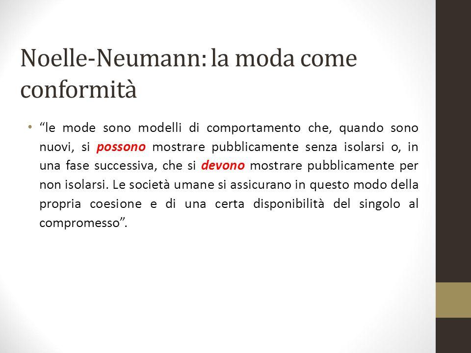 Noelle-Neumann: la moda come conformità