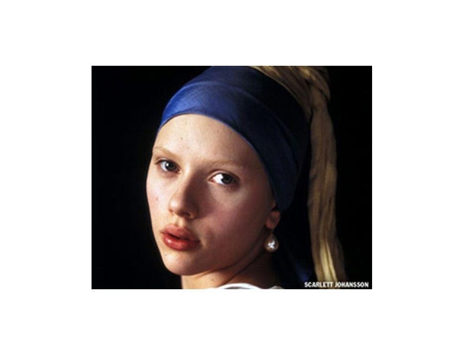 Scarlett Johansson nella parte di Griet, la servetta cui Vermeer si ispirò per il suo celebre quadro.
