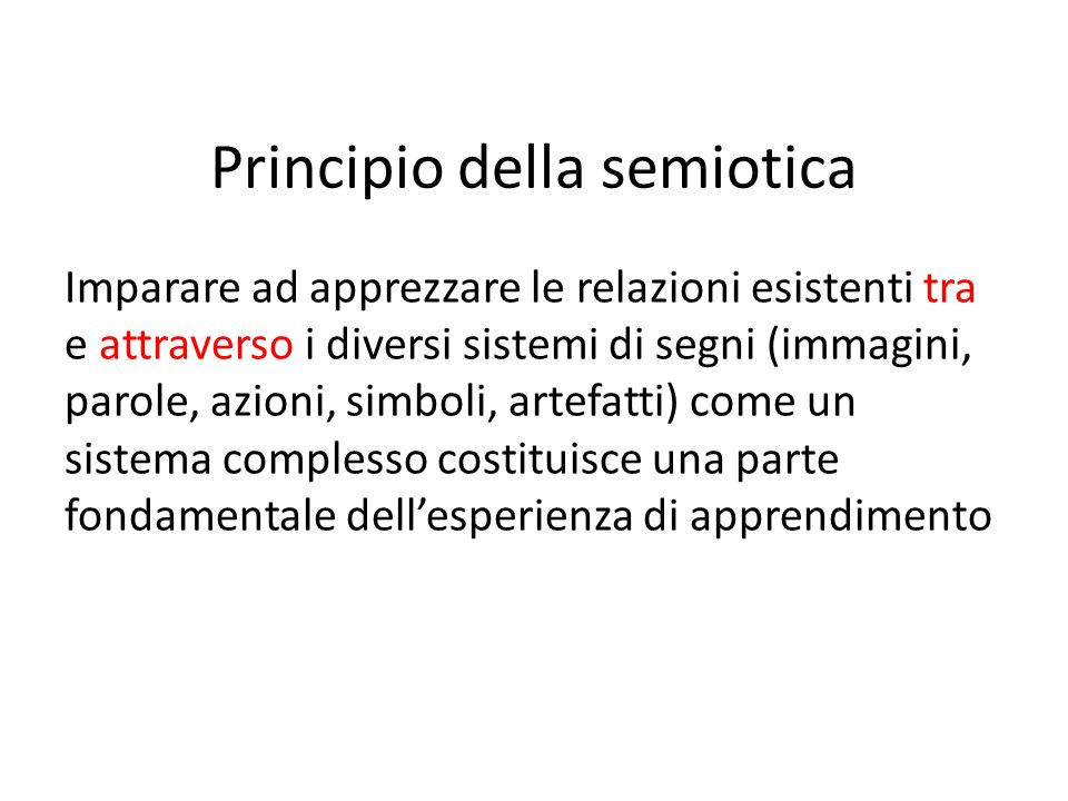 Principio della semiotica