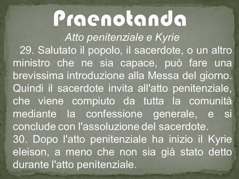 Atto penitenziale e Kyrie