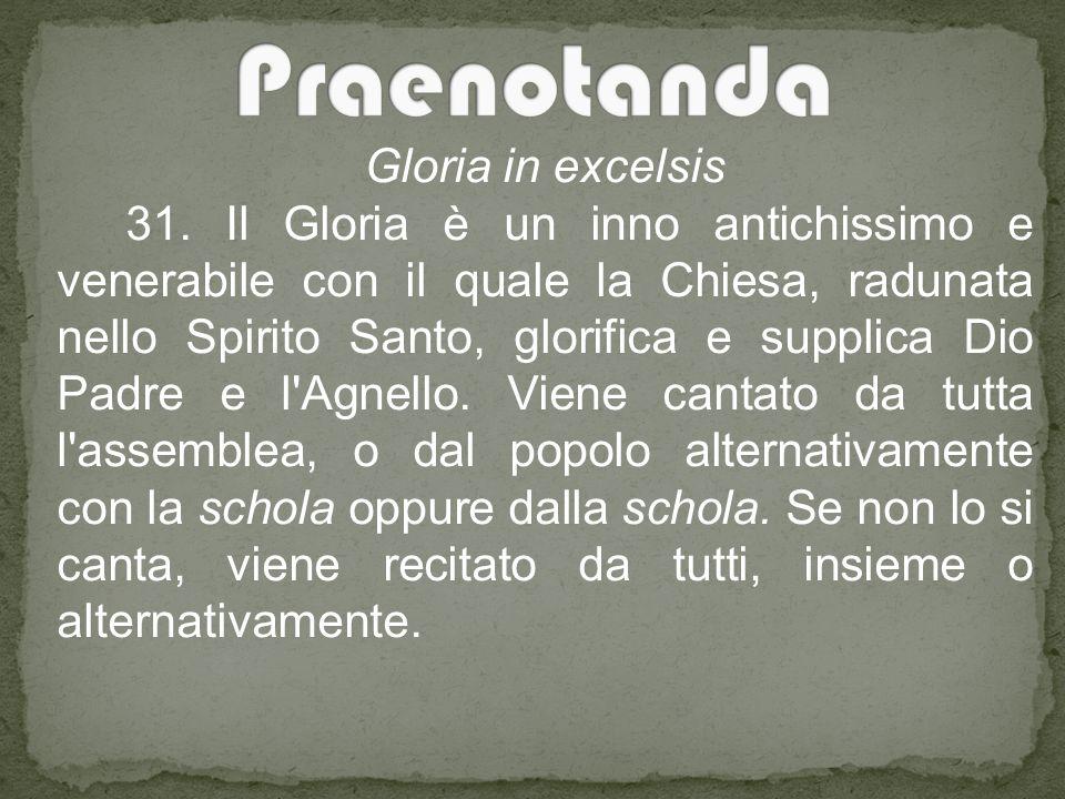 Praenotanda Gloria in excelsis