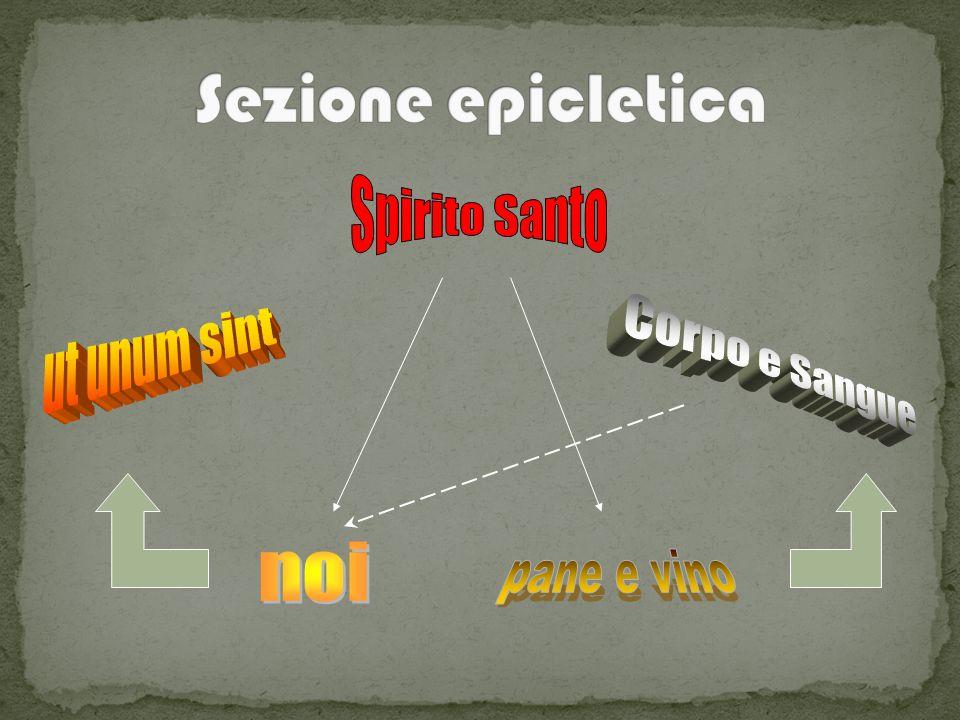 Sezione epicletica Spirito Santo ut unum sint Corpo e Sangue noi