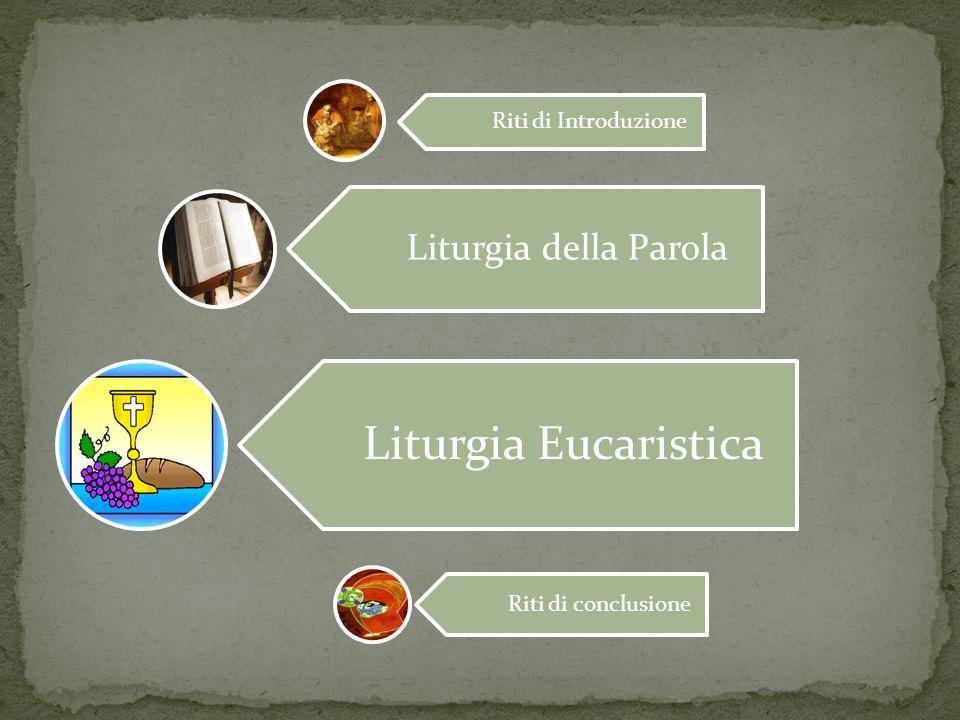 Liturgia Eucaristica Liturgia della Parola Riti di Introduzione
