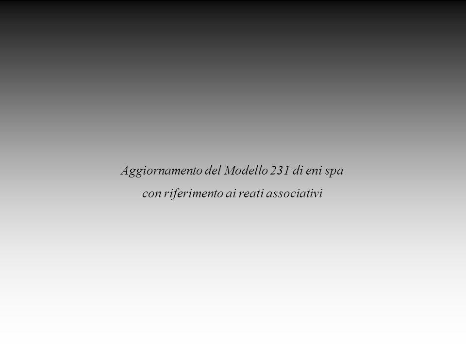 Aggiornamento del Modello 231 di eni spa