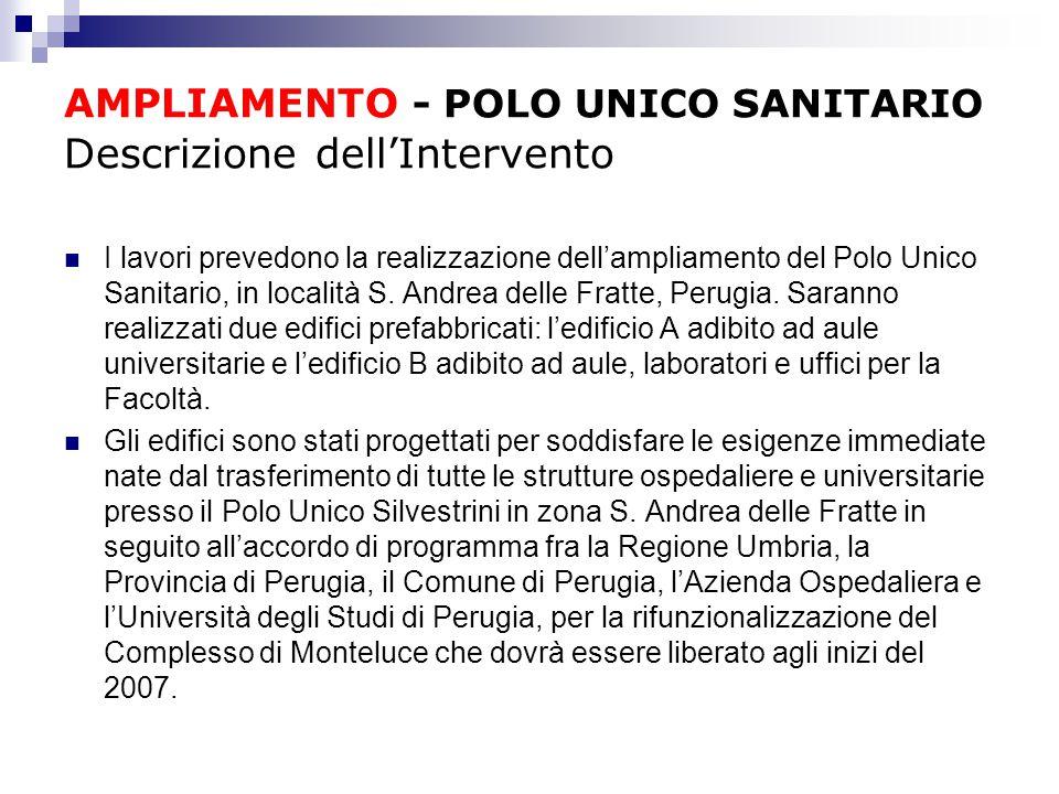 AMPLIAMENTO - POLO UNICO SANITARIO Descrizione dell'Intervento