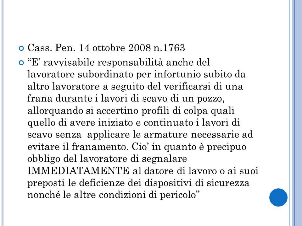 Cass. Pen. 14 ottobre 2008 n.1763