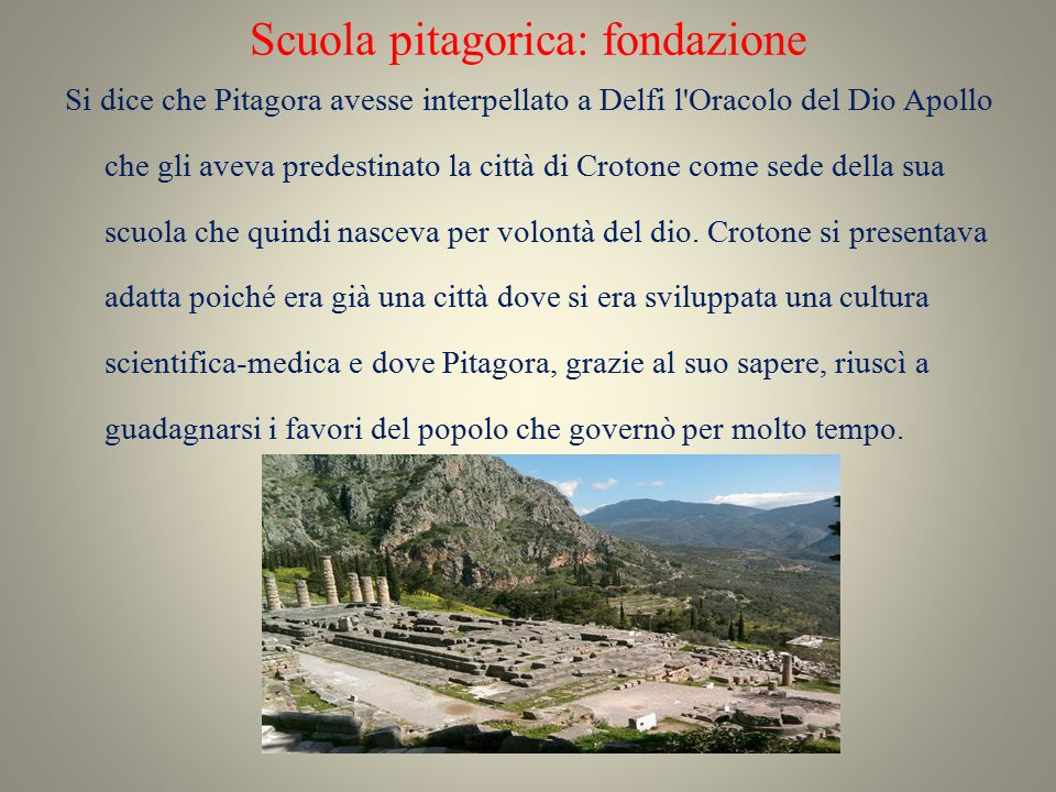 Scuola pitagorica: fondazione