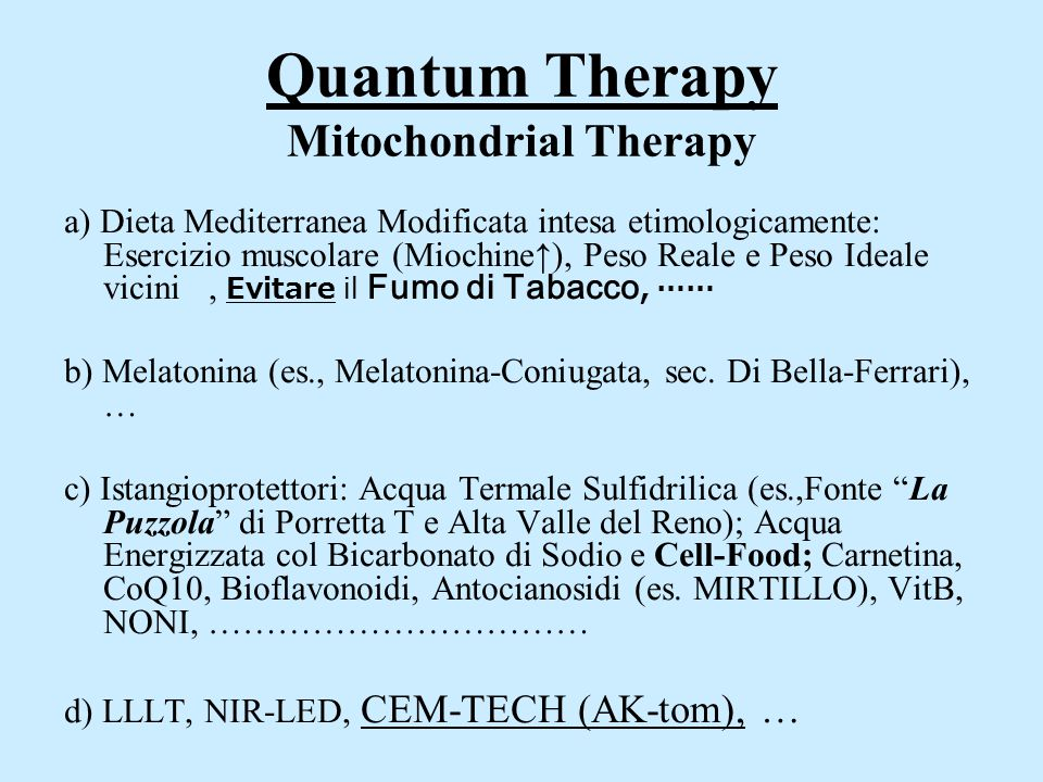 Quantum Therapy Mitochondrial Therapy
