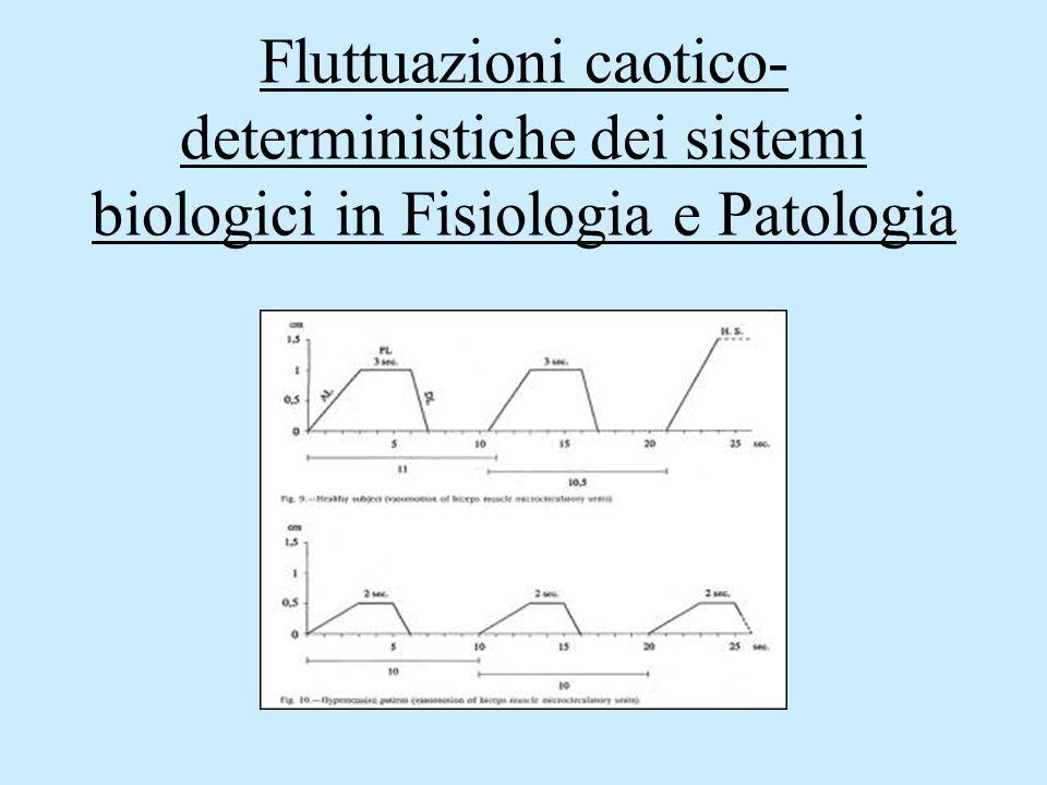 Fluttuazioni caotico-deterministiche dei sistemi biologici in Fisiologia e Patologia