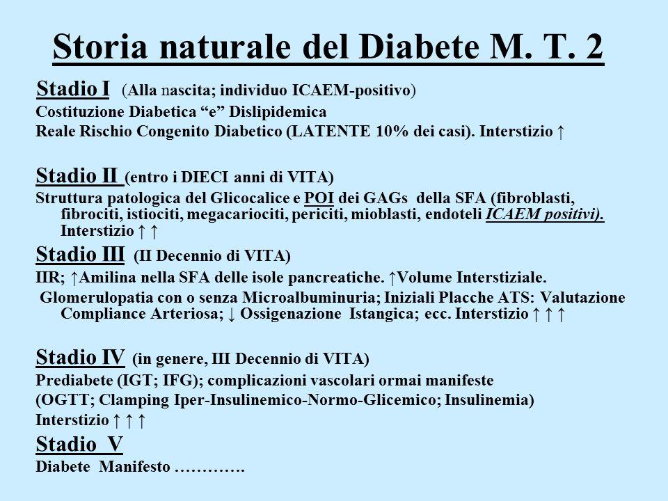 Storia naturale del Diabete M. T. 2