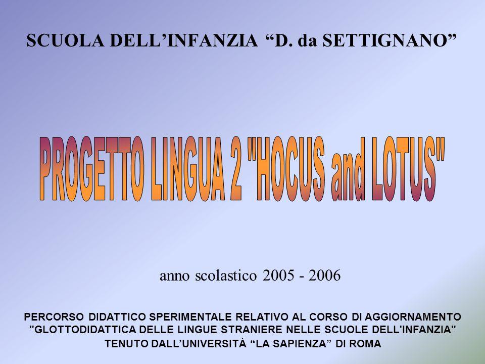 SCUOLA DELL'INFANZIA D. da SETTIGNANO