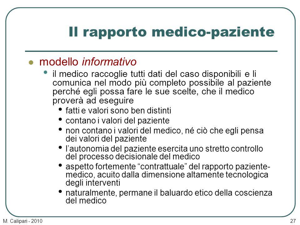 Il rapporto medico-paziente