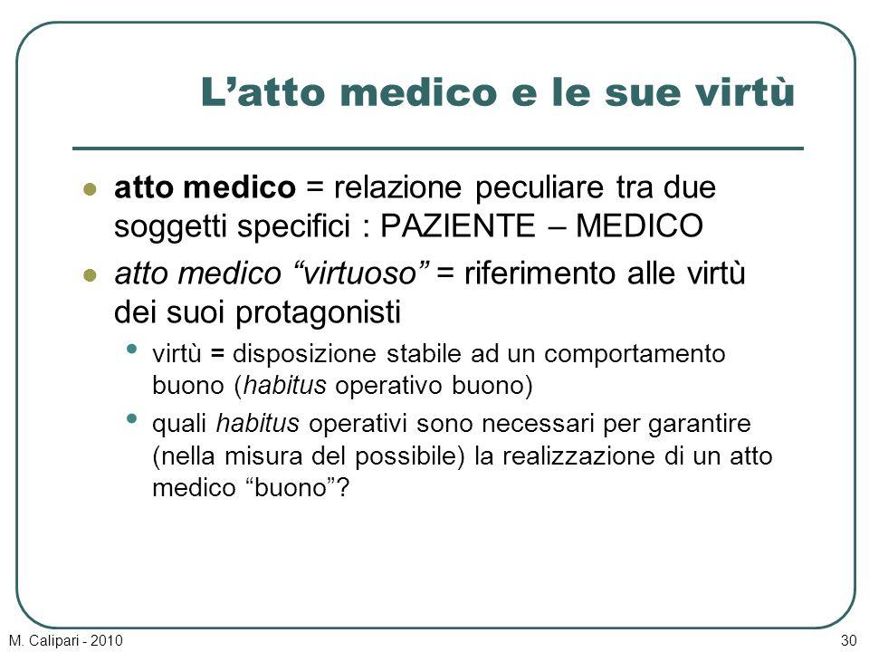 L'atto medico e le sue virtù