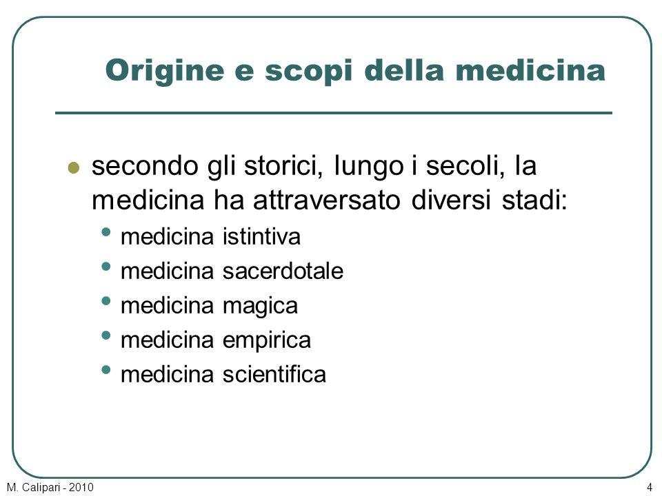 Origine e scopi della medicina