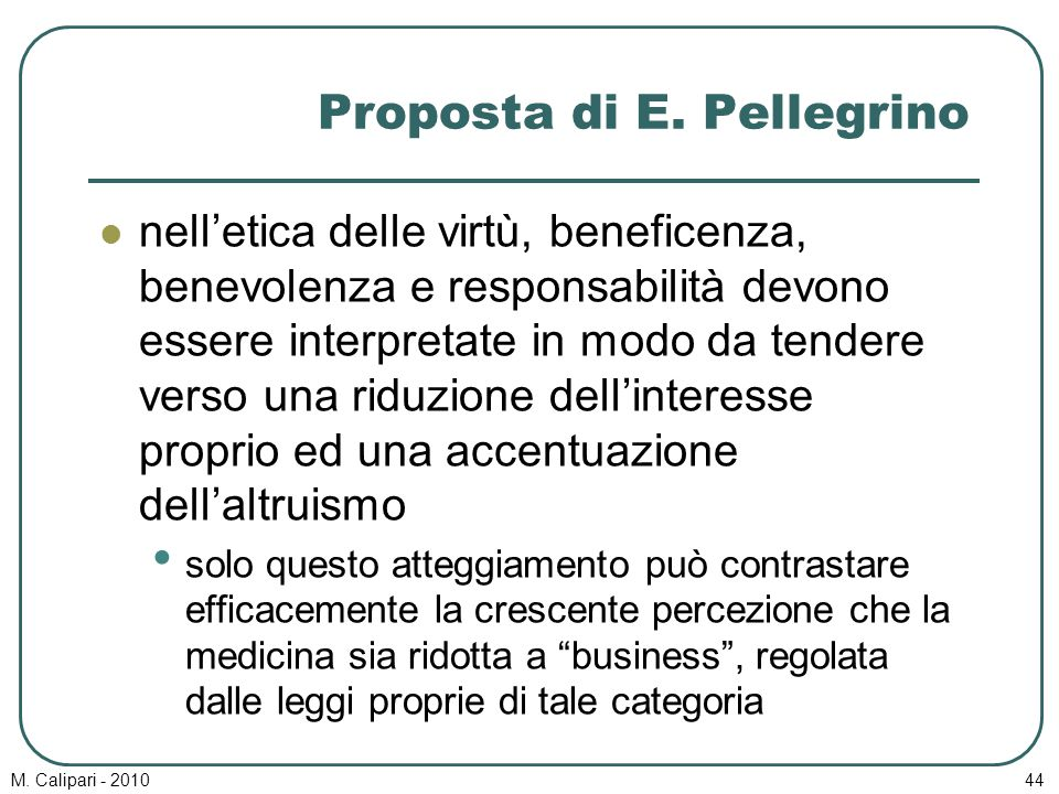 Proposta di E. Pellegrino