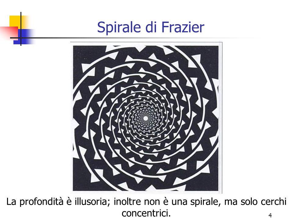 Spirale di Frazier La profondità è illusoria; inoltre non è una spirale, ma solo cerchi concentrici.
