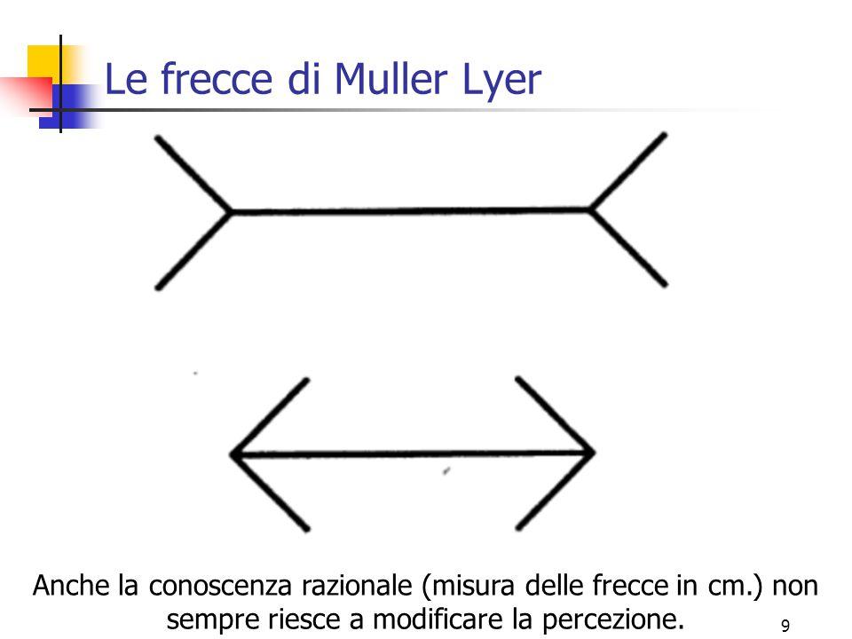 Le frecce di Muller Lyer