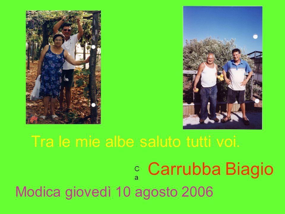 Carrubba Biagio Tra le mie albe saluto tutti voi.