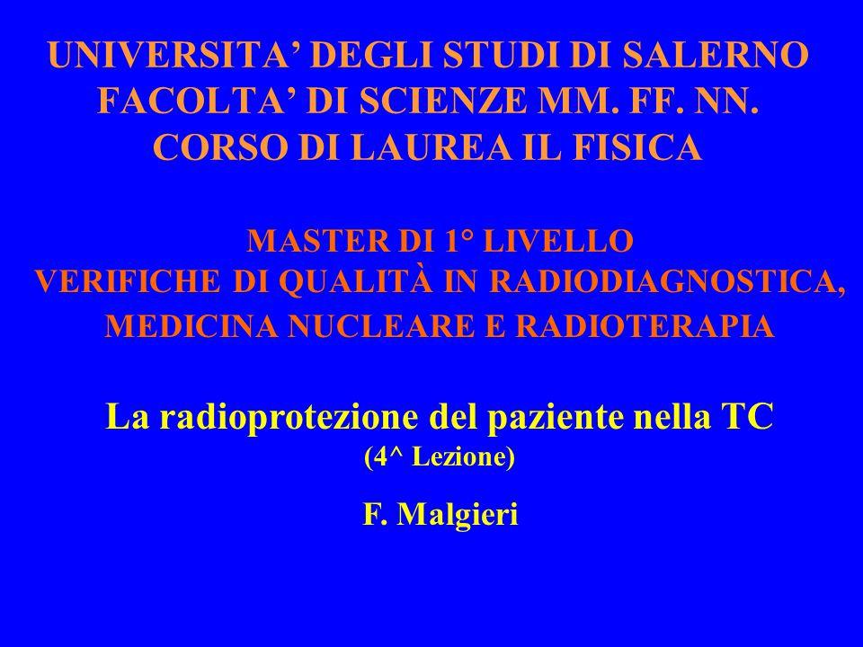 La radioprotezione del paziente nella TC