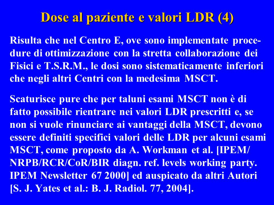 Dose al paziente e valori LDR (4)