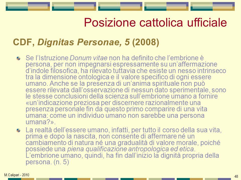 CDF, Dignitas Personae, 5 (2008)