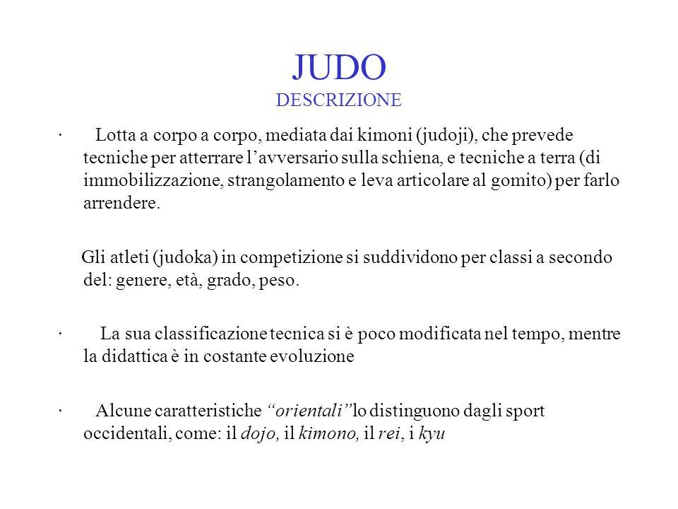 JUDO DESCRIZIONE