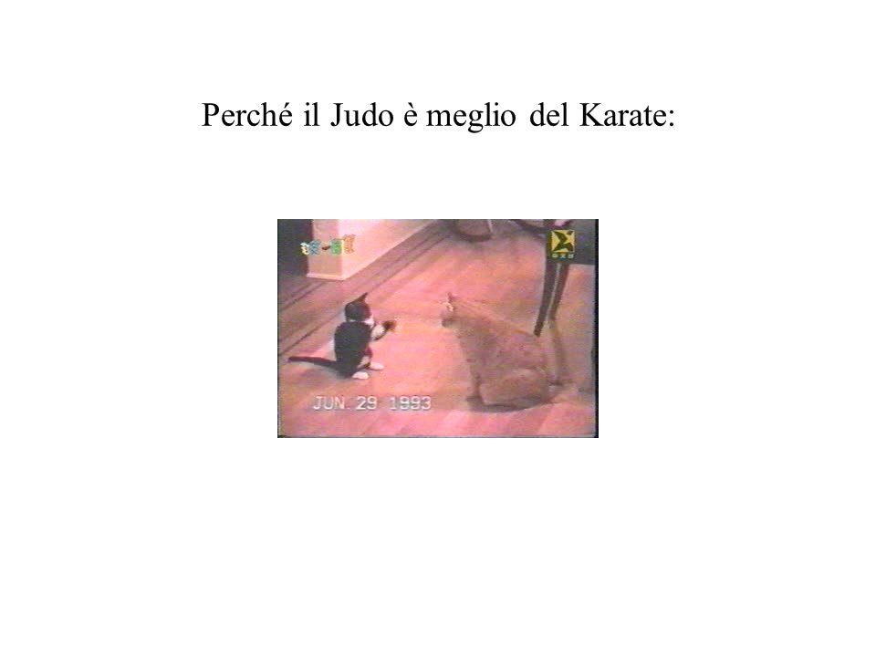 Perché il Judo è meglio del Karate:
