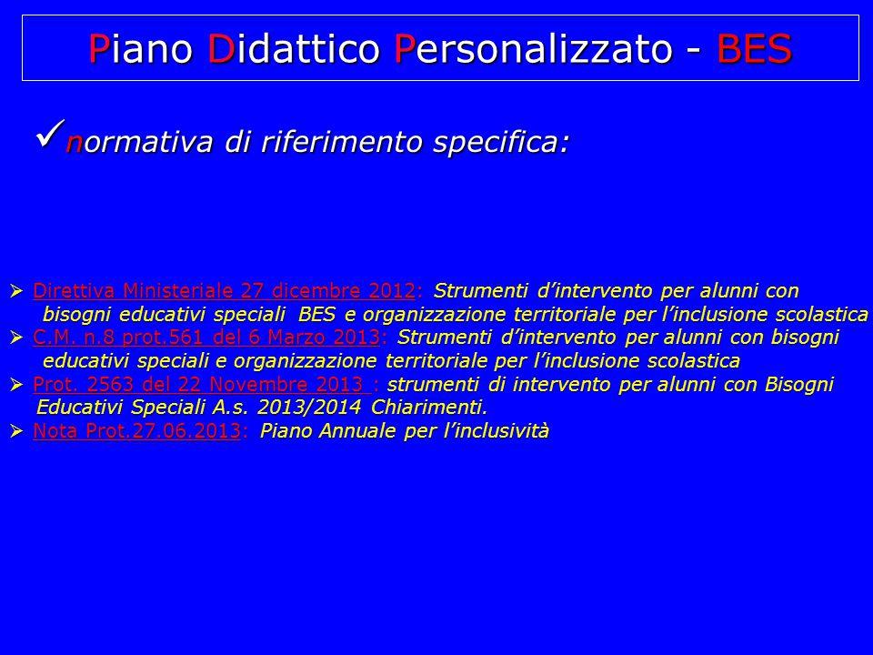 Piano Didattico Personalizzato - BES