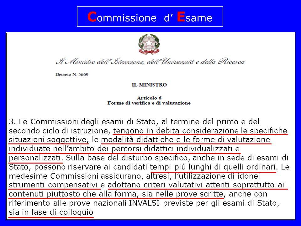 Commissione d' Esame