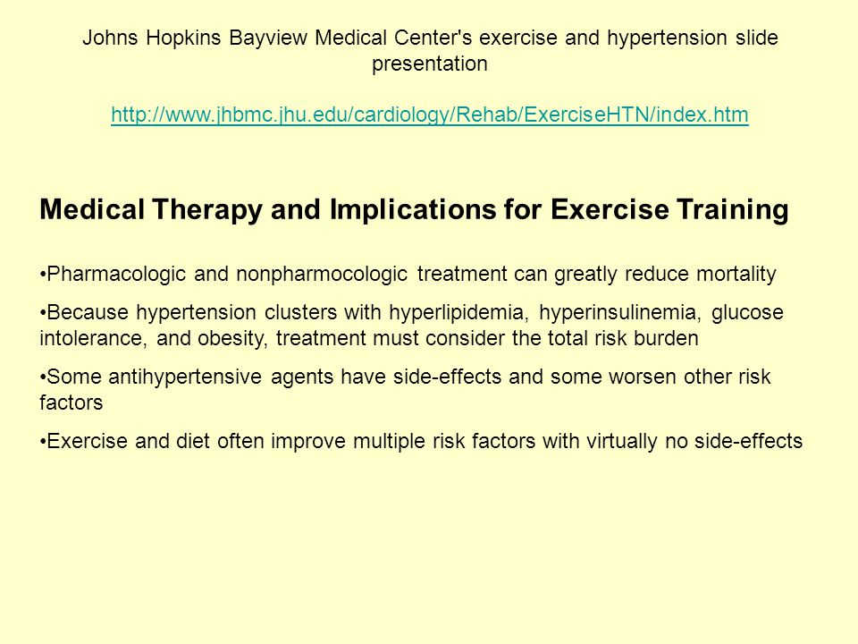 Medical Therapy and Implications for Exercise Training