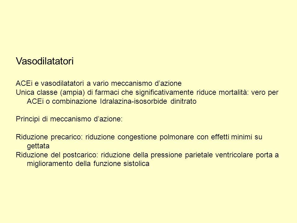Vasodilatatori ACEi e vasodilatatori a vario meccanismo d'azione