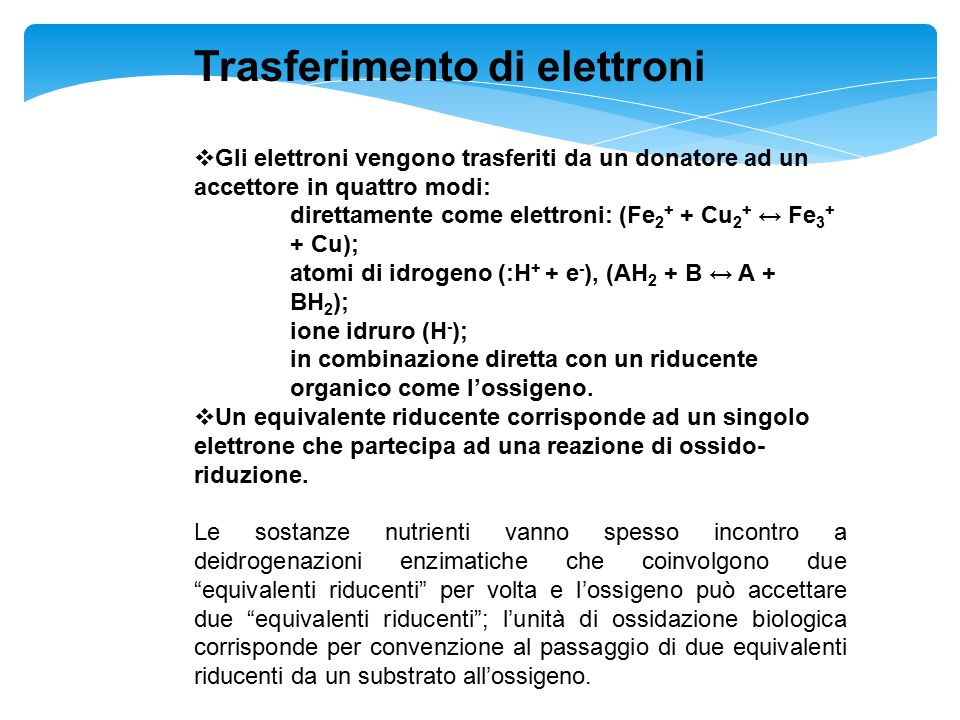 Trasferimento di elettroni