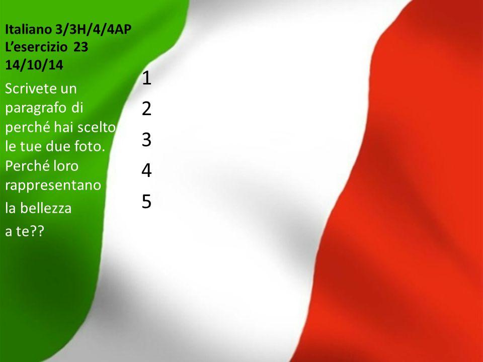 Italiano 3/3H/4/4AP L'esercizio 23 14/10/14