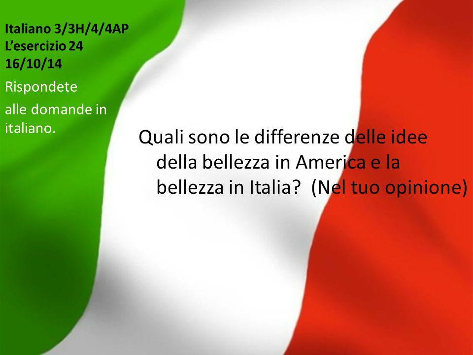 Italiano 3/3H/4/4AP L'esercizio 24 16/10/14