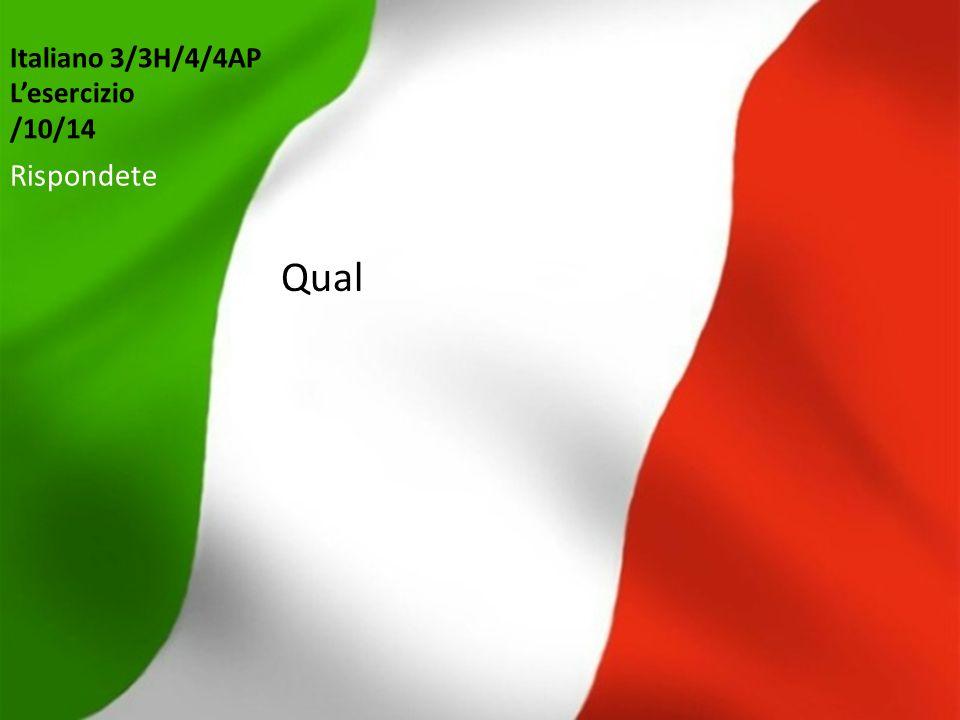 Italiano 3/3H/4/4AP L'esercizio /10/14