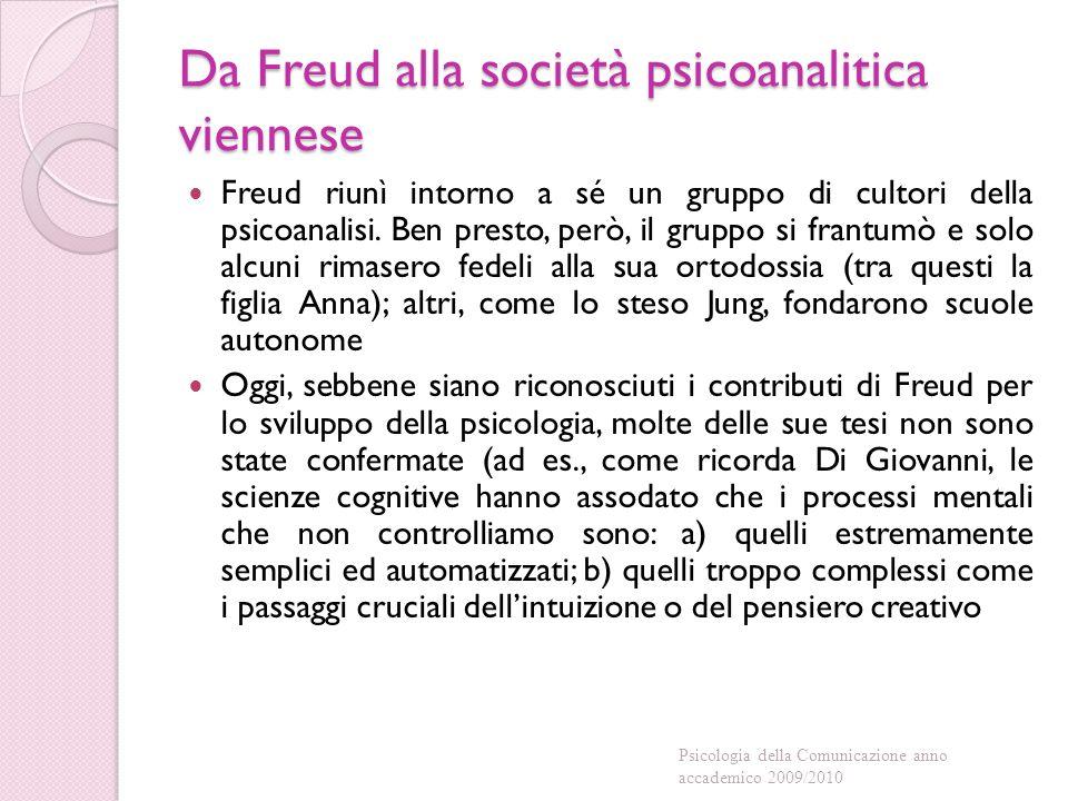 Da Freud alla società psicoanalitica viennese