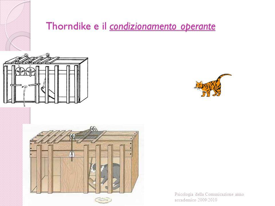 Thorndike e il condizionamento operante