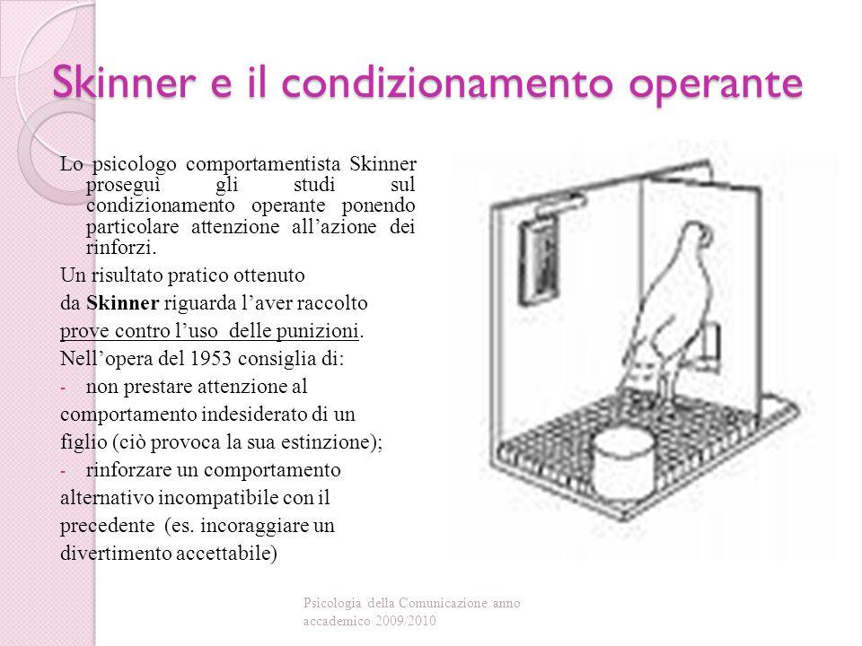 Skinner e il condizionamento operante