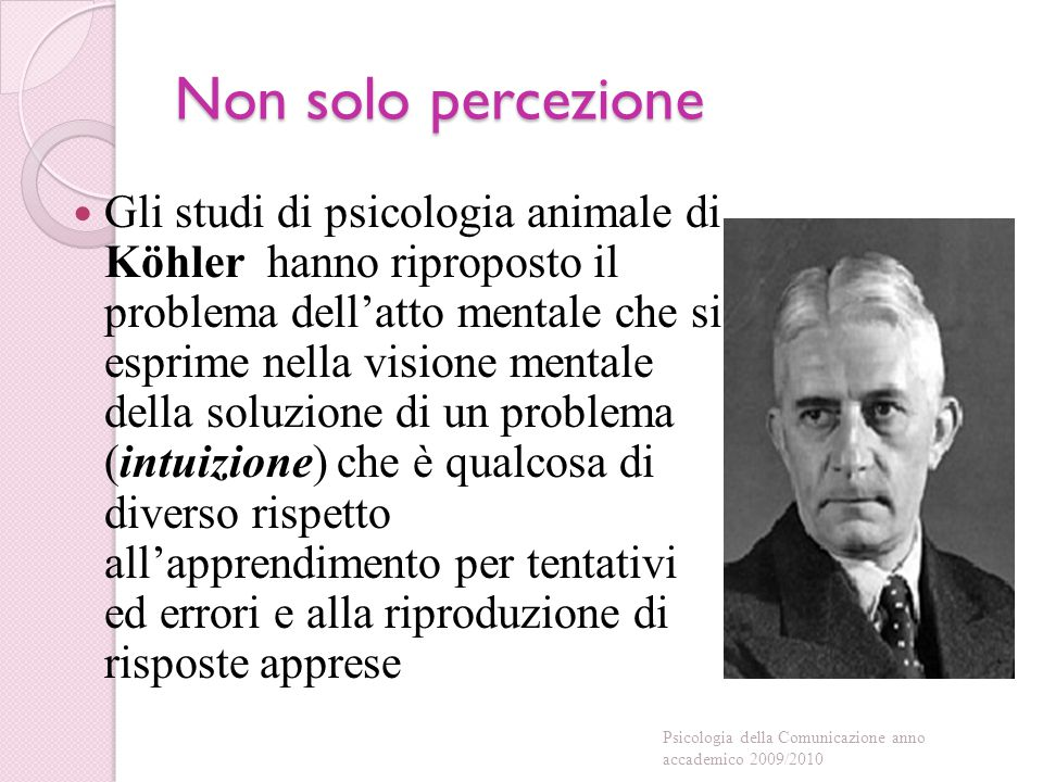 Non solo percezione