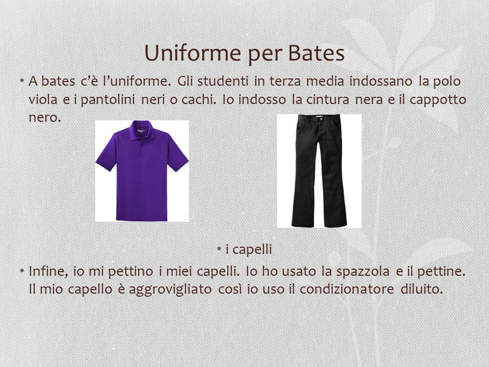 Uniforme per Bates